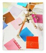 Design In Abstract Geometry Fleece Blanket