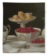 Dessert Still Life, 1855 Fleece Blanket
