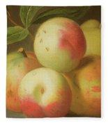 Detail Of Apples On A Shelf Fleece Blanket