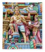 detail of Arulmigu Kapaleeswarar Temple, Chennai, Tamil Nadu Fleece Blanket