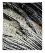 Detail Of Dry Broken Wood Fleece Blanket
