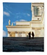 Detail Of Helsinki Cathedral Fleece Blanket