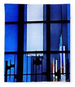 Detail Of Modern Johannes Schreiter Window Mainz 2 Fleece Blanket