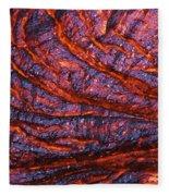 Detail Of Molten Lava Fleece Blanket