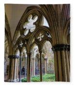 Detail Of Salisbury Cathedral Cloister  Fleece Blanket