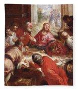 Detail Of The Last Supper Fleece Blanket