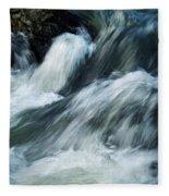 Detail Of Wild Rapid Water Fleece Blanket