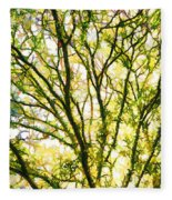 Detailed Tree Branches 1 Fleece Blanket