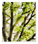 Detailed Tree Branches 3 Fleece Blanket