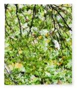 Detailed Tree Branches 4 Fleece Blanket