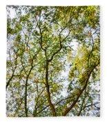Detailed Tree Branches 5 Fleece Blanket