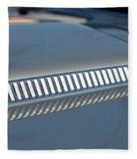 Details On Hood Of 1966 Chevrolet Corvette Sting Ray 427 Turbo-jet Fleece Blanket