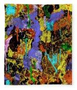 Detour Abstract Art Fleece Blanket