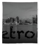 Detroit City  Fleece Blanket
