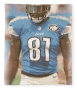 Detroit Lions Calvin Johnson 1 Fleece Blanket
