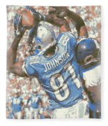 Detroit Lions Calvin Johnson 3 Fleece Blanket