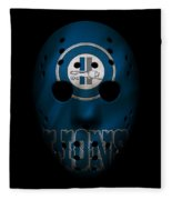 Detroit Lions War Mask Fleece Blanket