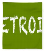 Detroit Fleece Blanket