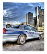 Detroit Police Fleece Blanket