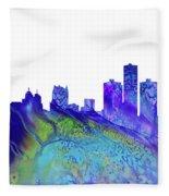 Detroit Skyline 3 Fleece Blanket