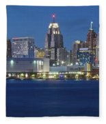 Detroit Stretches Out Fleece Blanket