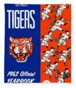 Detroit Tigers 1962 Yearbook Fleece Blanket