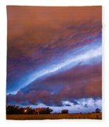 Developing Nebraska Night Shelf Cloud 007 Fleece Blanket