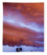 Developing Nebraska Night Shelf Cloud 011 Fleece Blanket