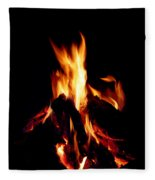 Devil Fire Fleece Blanket