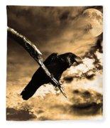 Devil In The Clouds Fleece Blanket
