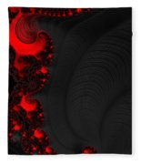Devil Light 2   A Fractal Abstract Fleece Blanket