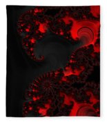 Devil Light   A Fractal Abstract Fleece Blanket