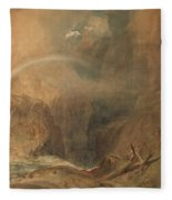 Devil's Bridge Saint Gotthard's Pass Fleece Blanket