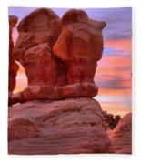 Devils Garden Pink Sunset Fleece Blanket