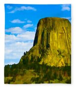 Devils Tower Fleece Blanket