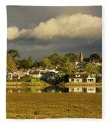 Devoran, Cornwall, Uk Fleece Blanket