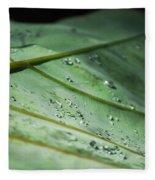 Dew Droplets Of Nature Fleece Blanket