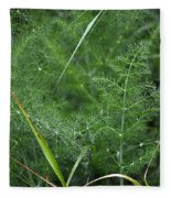 Dew On The Ferns Fleece Blanket