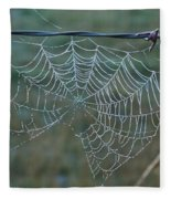 Dew On The Web Fleece Blanket