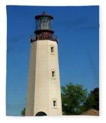 Dewey Beach Lighthouse Fleece Blanket