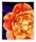 Dewy Peach Rose Fleece Blanket