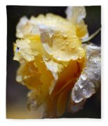 Dewy Yellow Rose 2 Fleece Blanket