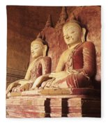 Dhammayangyi Temple Buddhas Fleece Blanket
