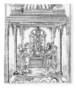 Dhanvantari, God Of Ayurvedic Medicine Fleece Blanket