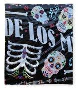 Dia De Los Muertos Banner  Fleece Blanket