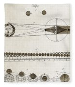 Diagram Of Eclipses, 18th Century Fleece Blanket