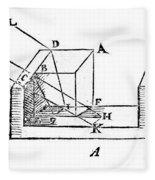 Diagram Showing Refraction, Kepler, 1611 Fleece Blanket