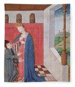 Dialogue Between Boethius And Philosophy Fleece Blanket