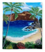 Diamond Head Fleece Blanket