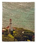 Diamond Head Lighthouse Fleece Blanket